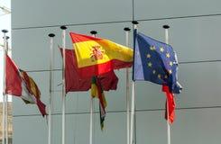Ondulation de drapeaux Images libres de droits