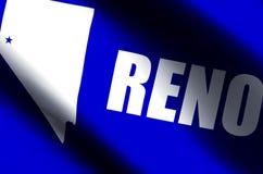 Ondulation de Reno et illustration colorées de drapeau de plan rapproché illustration stock