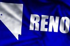 Ondulation de Reno et illustration colorées de drapeau de plan rapproché illustration libre de droits