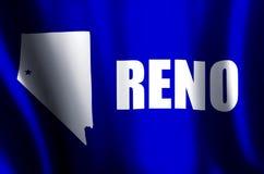 Ondulation de Reno et illustration colorées de drapeau de plan rapproché illustration de vecteur