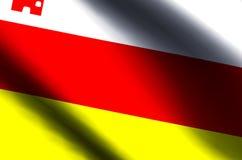 Ondulation de Santa Barbara la Californie et illustration colorées de drapeau de plan rapproché illustration libre de droits