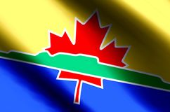 Ondulation de Thunder Bay et illustration colorées de drapeau de plan rapproché illustration stock