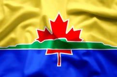 Ondulation de Thunder Bay et illustration colorées de drapeau de plan rapproché illustration libre de droits