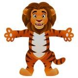 Ondulation dr?le de lion de bande dessin?e illustration libre de droits