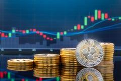 Ondulation et cryptocurrency investissant le concept illustration libre de droits