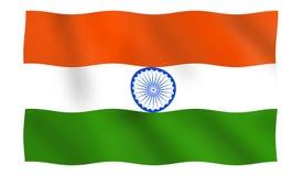 Ondulation indienne de drapeau national illustration libre de droits