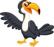 Ondulation mignonne de bande dessinée d'oiseau de toucan Photographie stock libre de droits