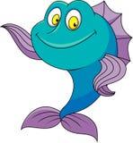 Ondulation mignonne de bande dessinée de poissons Photos stock