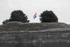 Ondulation néerlandaise de drapeau photographie stock