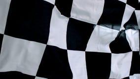 Ondulation noire et blanche à carreaux de drapeau illustration de vecteur