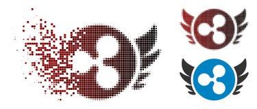 Ondulation tramée pointillée de dissolution Angel Investment Icon illustration de vecteur