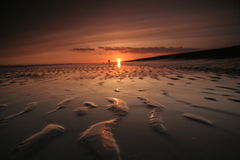 Ondulations au coucher du soleil Photo stock