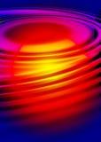 Ondulations colorées de l'eau Photographie stock libre de droits