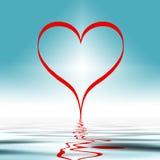 Ondulations d'amour   Photo libre de droits