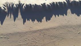 Ondulations dans le sable d'une plage Photo libre de droits