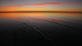 Ondulations de lever de soleil Image libre de droits