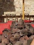Ondulations de mine et de chaleur du feu images stock