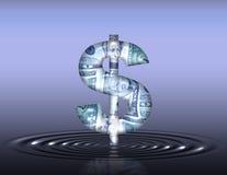 Ondulations du dollar illustration de vecteur