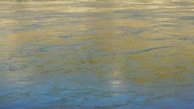 Ondulations et écoulement d'eau profonde du fleuve Columbia de réflexions clips vidéos