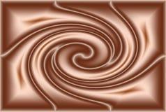 Ondulazione del cioccolato Immagini Stock