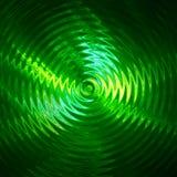 Ondulazione della luce verde in acqua Fotografia Stock
