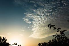 Ondulazione nel cielo Fotografia Stock