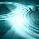 Ondulazioni blu unite Fotografia Stock Libera da Diritti