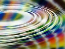 Ondulazioni del Rainbow Immagine Stock