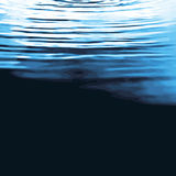 Ondulazioni di superficie dell'acqua Immagini Stock