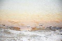 Ondulazioni di una sorgente di acqua calda Fotografia Stock