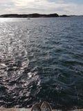 Ondulazioni nell'oceano Fotografie Stock Libere da Diritti