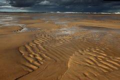 Ondulazioni, spiaggia di Balmedie Immagine Stock