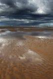 Ondulazioni, spiaggia di Balmedie Fotografie Stock