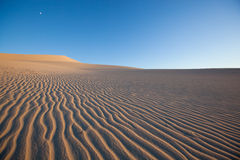 Ondulazioni su una duna di sabbia Fotografia Stock