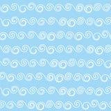 Ondule la configuration sans joint Rétro texture de tissu Images libres de droits