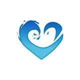 Ondule le logo de coeur Image libre de droits