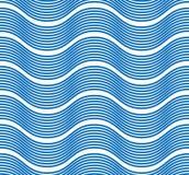 Ondule le modèle sans couture, lignes liquides résumé de courbe de l'eau de vecteur illustration stock