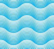 Ondule le modèle sans couture, lignes liquides résumé de courbe de l'eau de vecteur illustration libre de droits