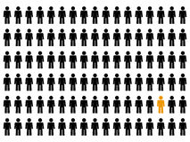 The one. Lot of people and the chosen one vector illustration