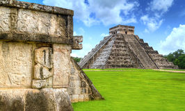 One of 7 New Wonders. Kukulkan pyramid of Chichen Itza in Mexico, one of 7 New Wonders Royalty Free Stock Photos