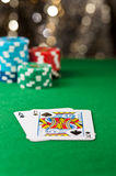 One ace and one King card Royalty Free Stock Images