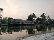 House Boat - Allapey stock photos