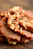 Almonds pastry with hazelnuts Royalty Free Stock Photography