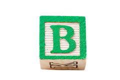 One alphabet block Stock Photography