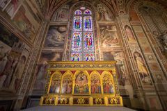 One of the Altars in Basilica of Santa Croce, Florence Royalty Free Stock Images