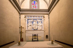 One of the Altars in Basilica of Santa Croce, Florence. The Basilica of Santa Croce is one of the main Florence attractions of the Renaissance, Tuscany, Italy royalty free stock images
