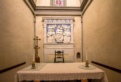 One of the Altars in Basilica of Santa Croce, Florence Royalty Free Stock Image