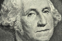 One American dollar banknote Royalty Free Stock Images