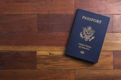 One American Passport Royalty Free Stock Photo