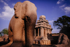 One of the ancient architectural wonders of the Pallava kings Royalty Free Stock Photos